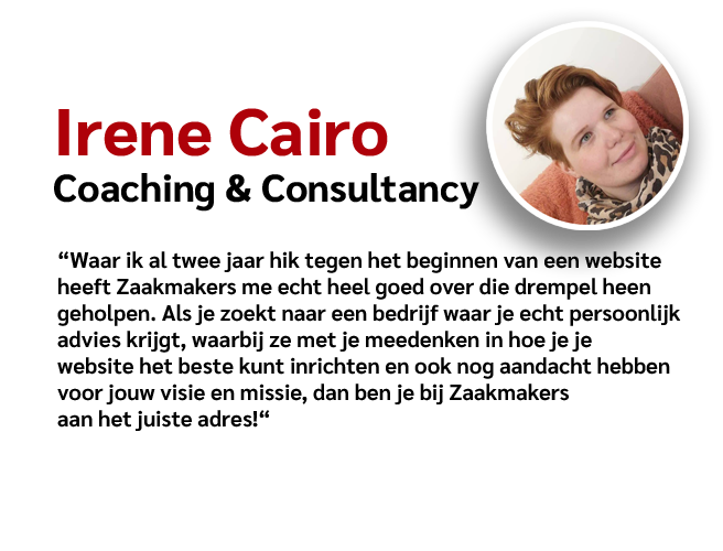 Zaakmakers - Review Irene Cairo