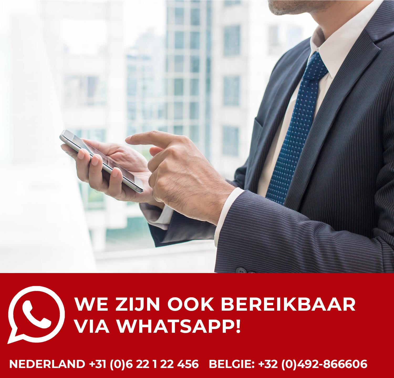 Stuur ons een bericht via Whatsapp